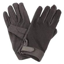 LOVESON COTTON PIMPLE RIDING GLOVES - BLACK - NAVY -  BROWN -  WHITE - BURGUNDY*
